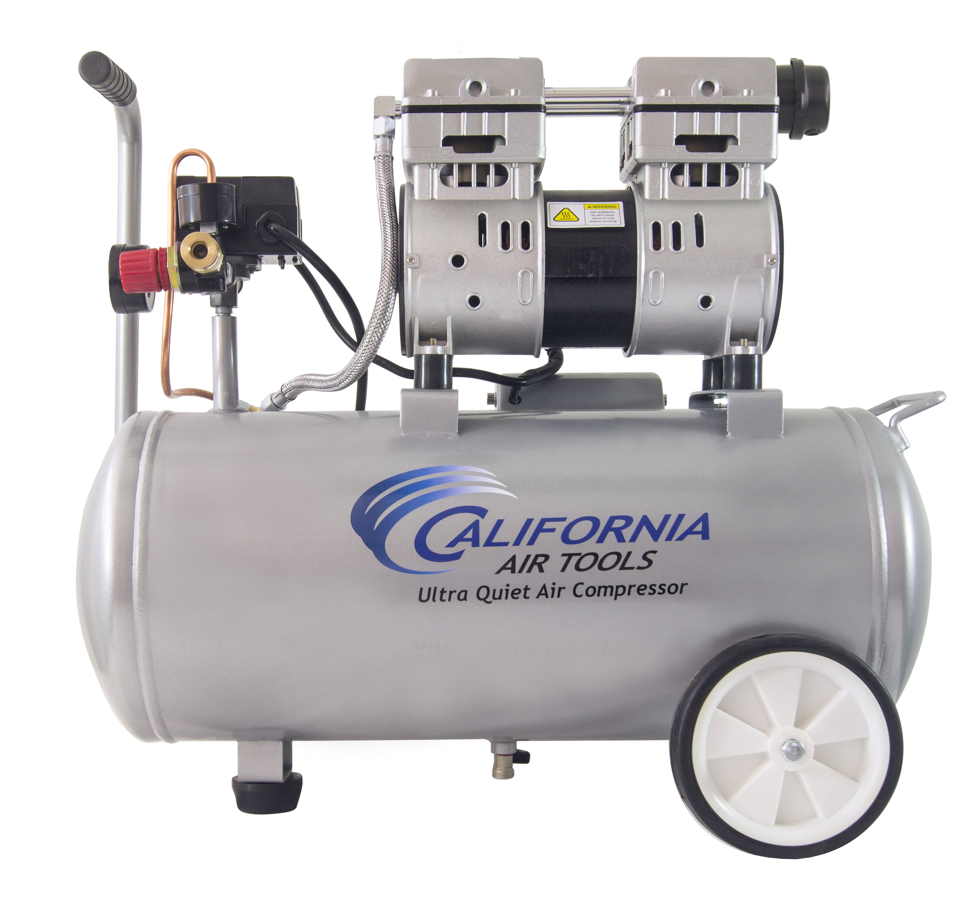 California Air Tools 8010 Ultra Quiet & Oil-Free 1.0 Hp, 8.0 Gal. Steel Tank Air Compressor by California Air Tools