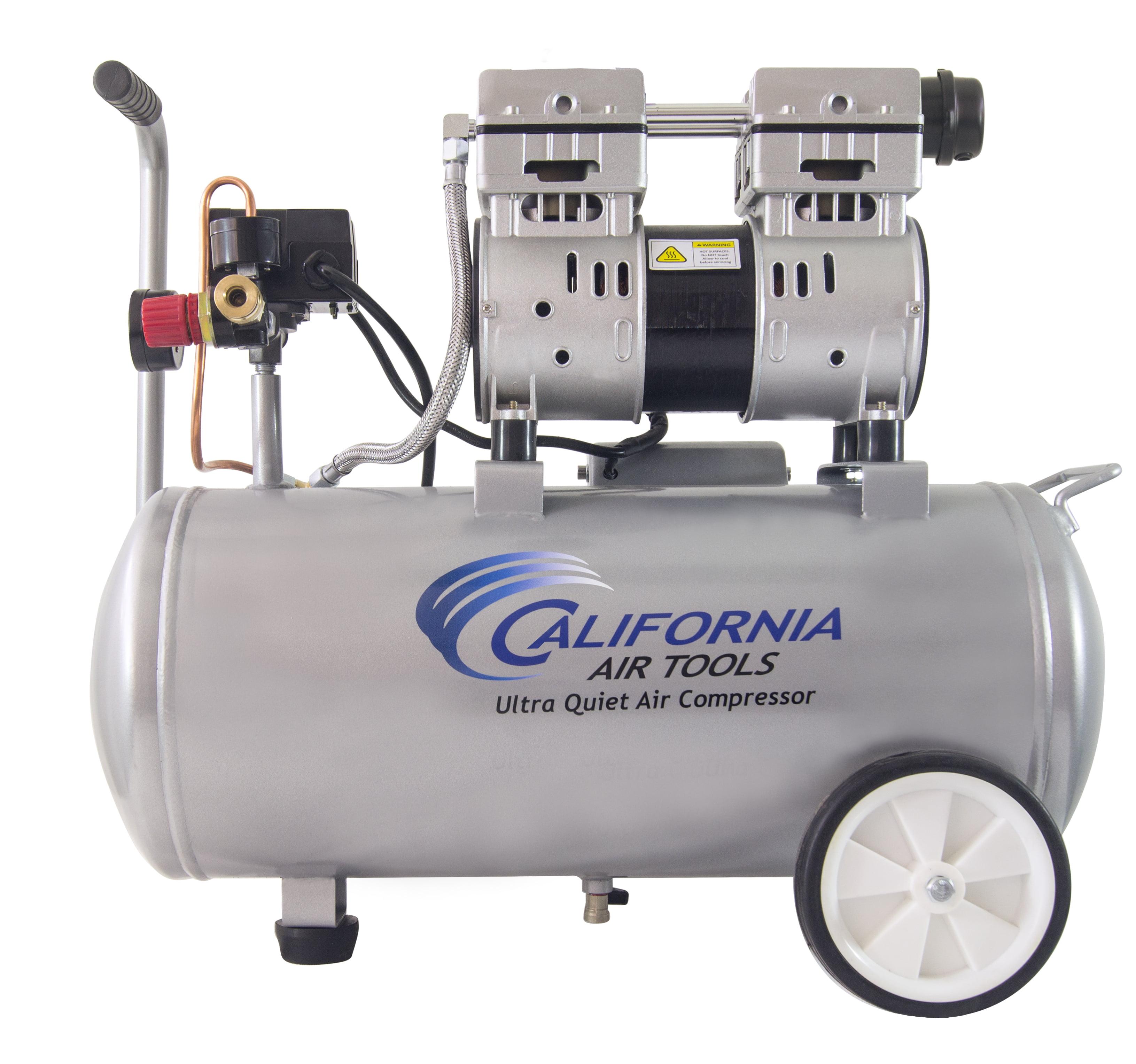 California Air Tools 8010 Ultra Quiet & Oil-Free 1.0 Hp, 8.0 Gal. Steel Tank Air Compressor
