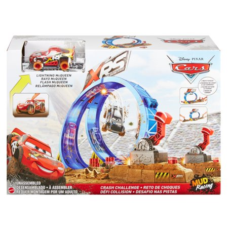 Disney/Pixar Cars XRS Mud Racing Crash Challenge Playset Cars Radiator Springs Playset