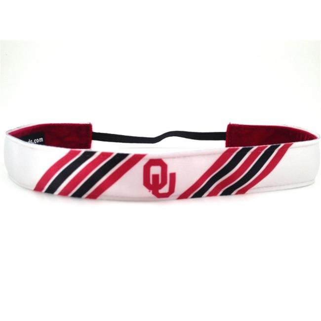 One Up Bands 1197 NCAA Oklahoma Sooners Stripes Headband - Pack of 2