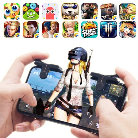 1 Pairs Mobile Phone Gaming Trigger Fire Button Smartphone Shooter Controller for (Best Smartphone For Gaming)