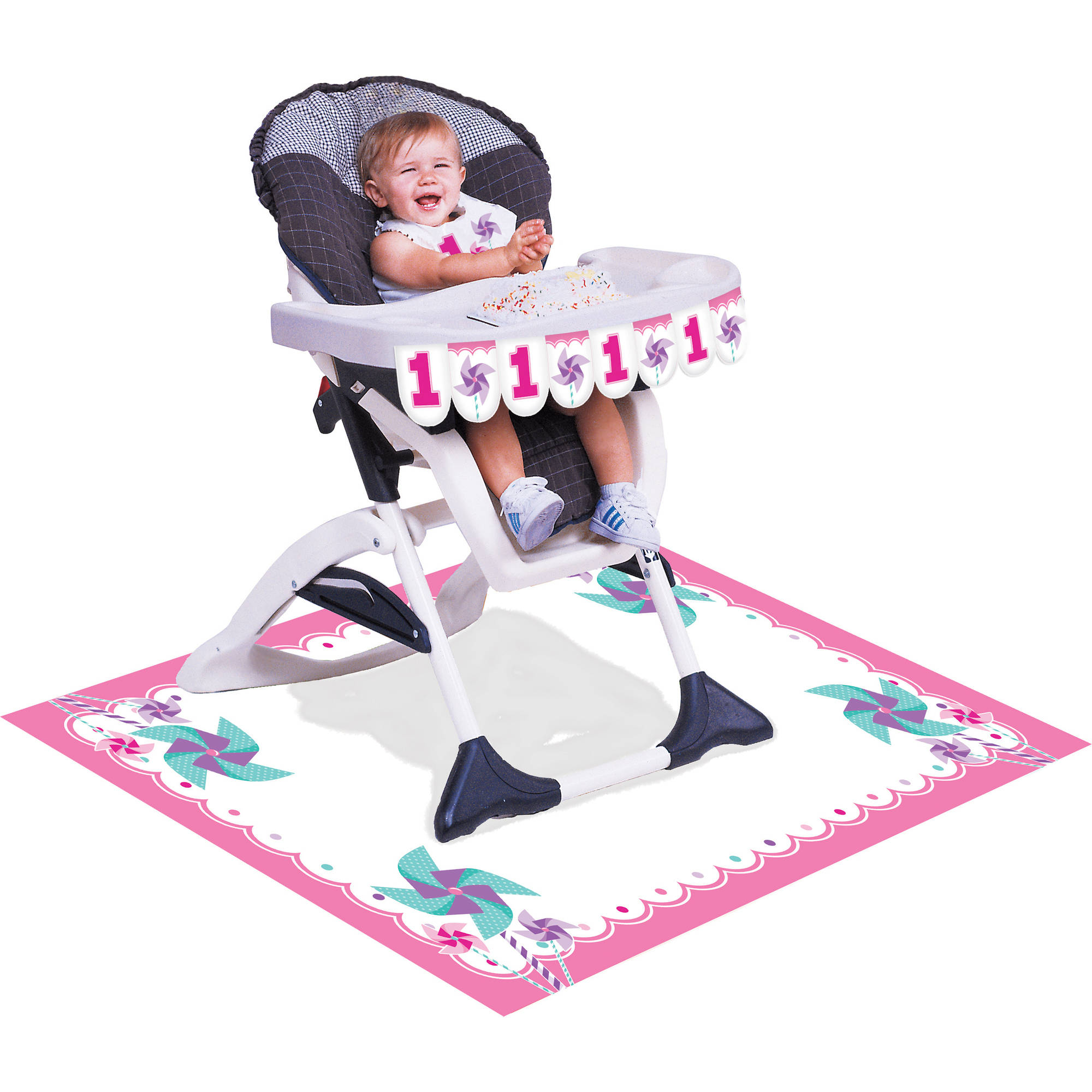 Turning One Girl High Chair Kit by Creative Converting