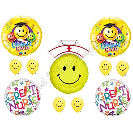 Nursing Graduation Cap Decorations (Great Nursing Nurse Graduation Pinning Celebration Balloon Decorations Supplies Bouquet)