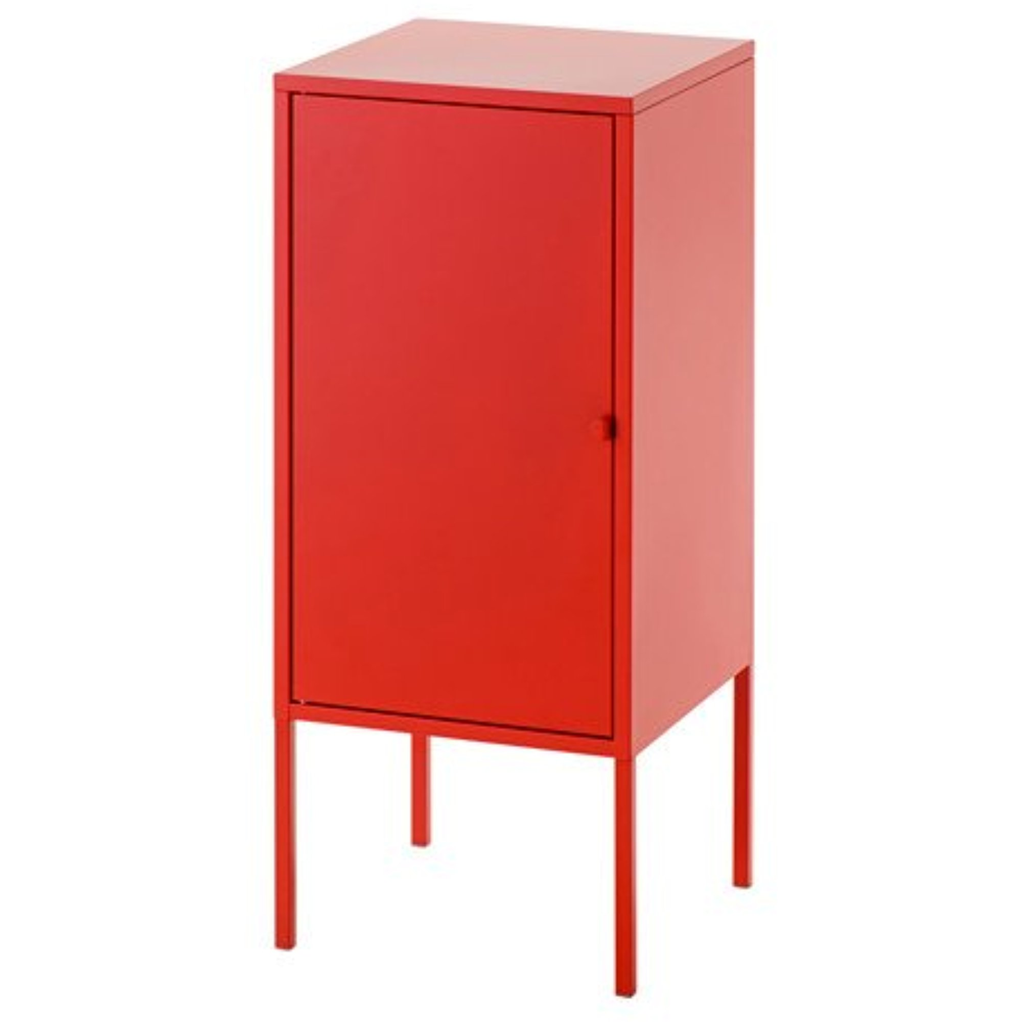 Ikea Storage Cabinet, Metal, Red 1228.82620.302