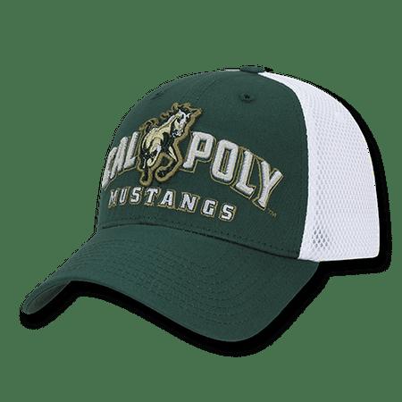 Poly Mesh Cap - NCAA Cal Poly Mustangs University Structured Mesh Flex Baseball Caps Hats