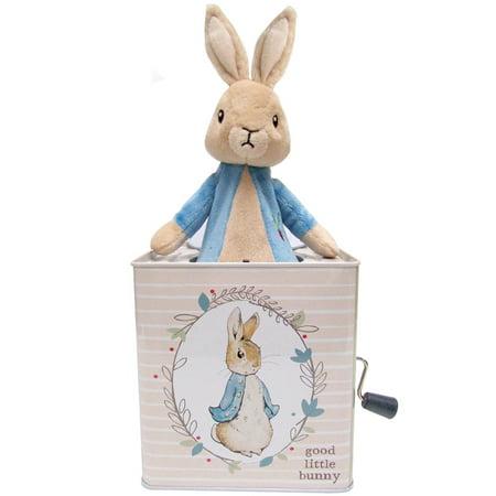 Beatrix Potter Peter Rabbit Jack In The Box - Metal w/ Pop-Up Plush (Metal Bunny)