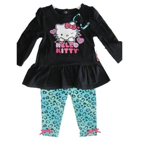 Baby Girls Black Blue Leopard Spot Glittery Applique Dress 12M-24M