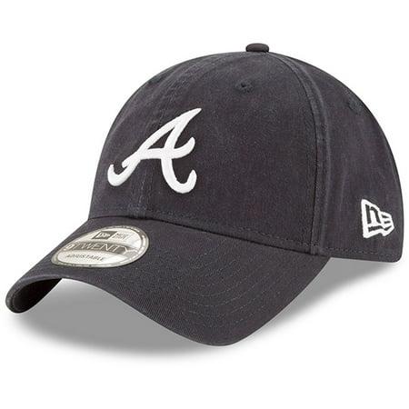 Atlanta Braves New Era Road Replica Core Classic 9TWENTY Adjustable Hat - Navy -