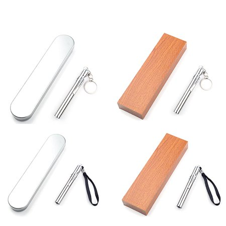 Portable Mini LED Flashlight Battery Powered Super Bright Torch Light Pen Lightweight Medical Flashlight with Key Ring - image 2 de 7