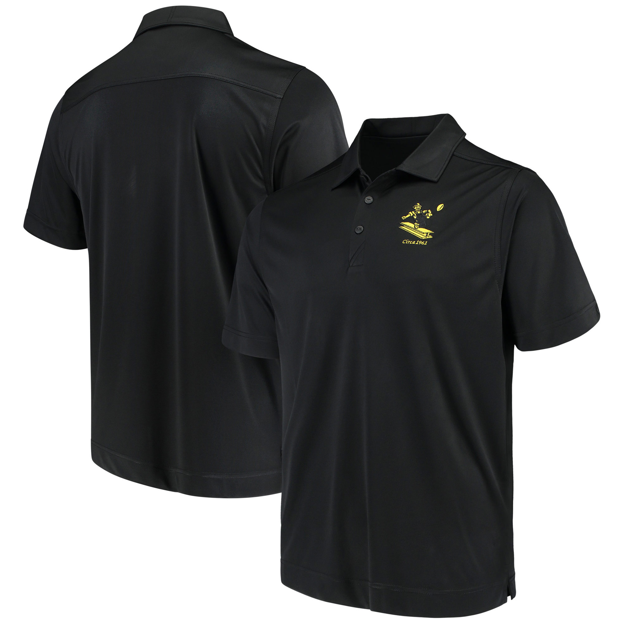 Pittsburgh Steelers Cutter & Buck Vintage DryTec Northgate Polo - Black