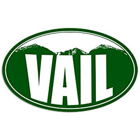 OVAL VAIL Colorado Mountain BG Sticker Decal (snow ski resort) 3 x 5 inch