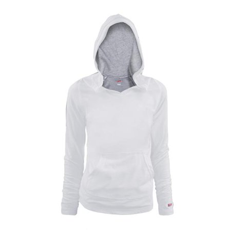 Extra Large Light Oxford - Girl Halftime Cotton Hoodie, White & Oxford - Extra Large