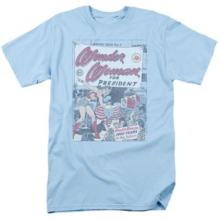 Trevco Dc-Ww For President - Short Sleeve Adult 18-1 Tee - Light Blue, (Top Ten Best Presidents)