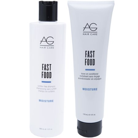 Ag Hair Fast Food - AG Hair Moisture Fast Food Shampoo 10 oz and Conditioner 6 oz Duo Set