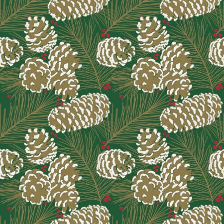 The Gift Wrap Company Pine Etchings Wrap, 9 Ft, 1 Ct