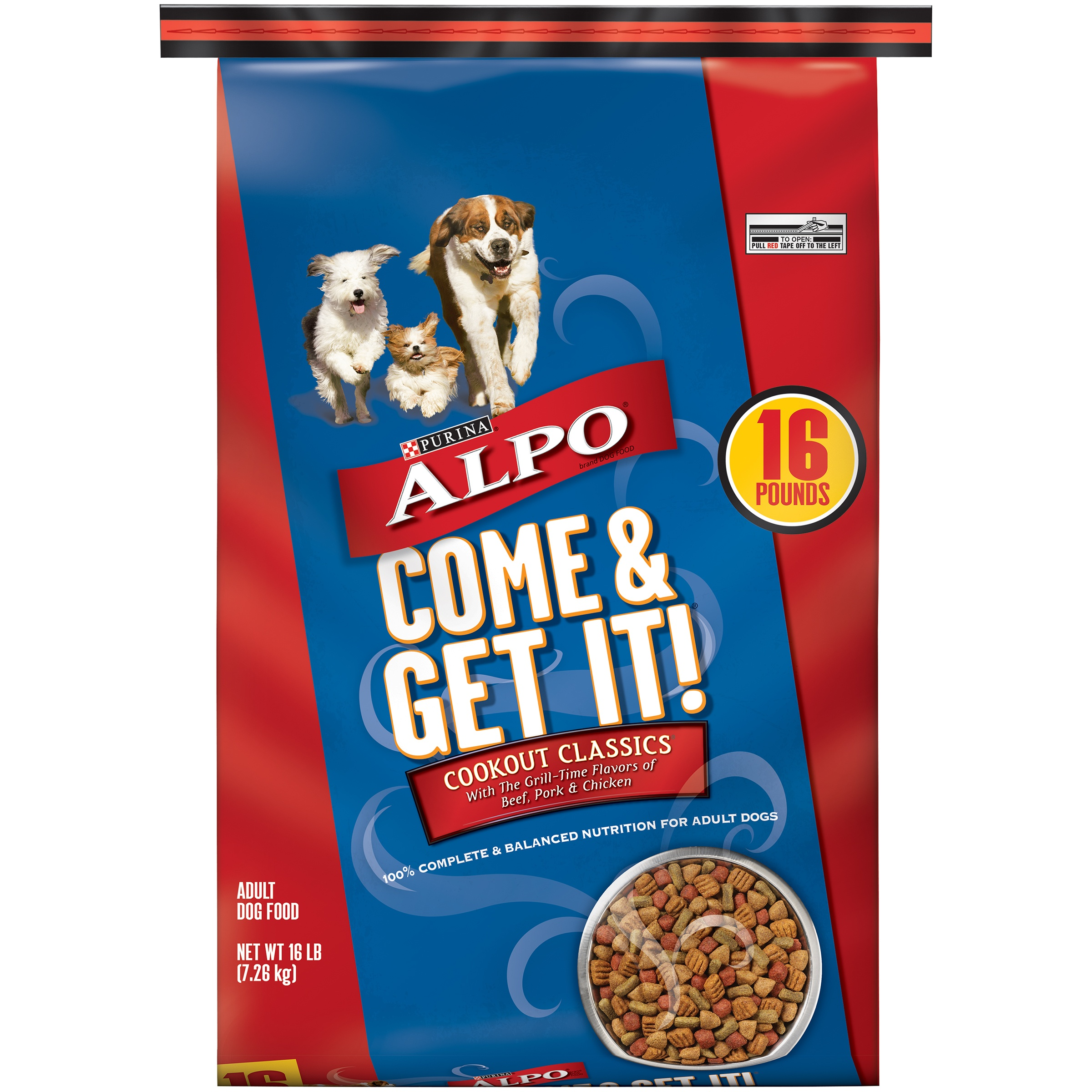 Purina Alpo Come and Get It Come & Get It! Cookout Classics Dry Dog Food, 16 Lb.