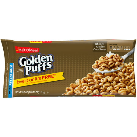 malt o meal golden puffs cereal 39 5 oz zip pak walmart com