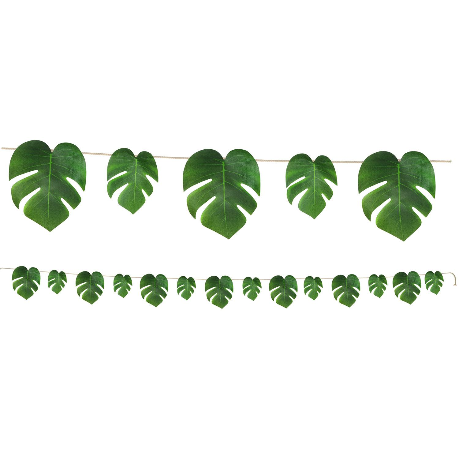 Club Pack of 12 Tropical Palm Leaves Decorative Banner Decoration  9'
