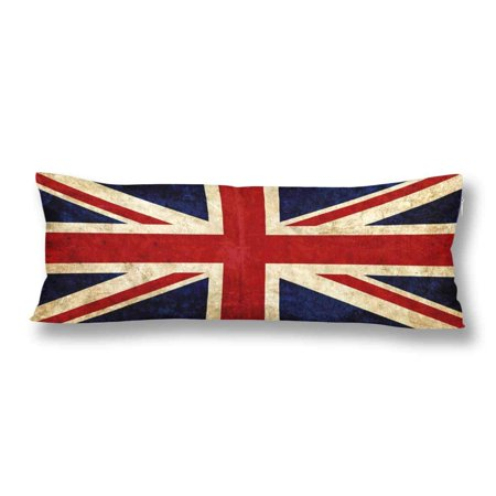GCKG Old England Union Jack Vintage British Flag of Great Britain Body Pillow Covers Case Protector 20x60 inches - image 2 de 2