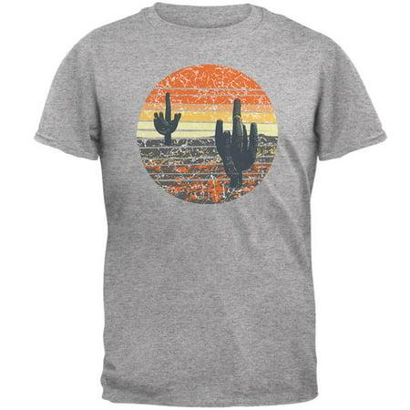 Vintage Cactus Sunset Mens T Shirt (Kaktus Clothing)
