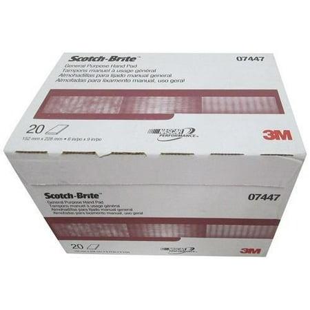 3M 07447 Scotch-Brite Maroon General Purpose Hand Pad 40 pack (2 boxes)