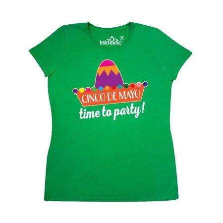 Cinco De Mayo Fiesta Sombrero Hat Women's T-Shirt](Fiesta Hat)