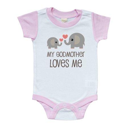 c50f1d93a Inktastic - My Godmother Loves Me Infant Creeper - Walmart.com