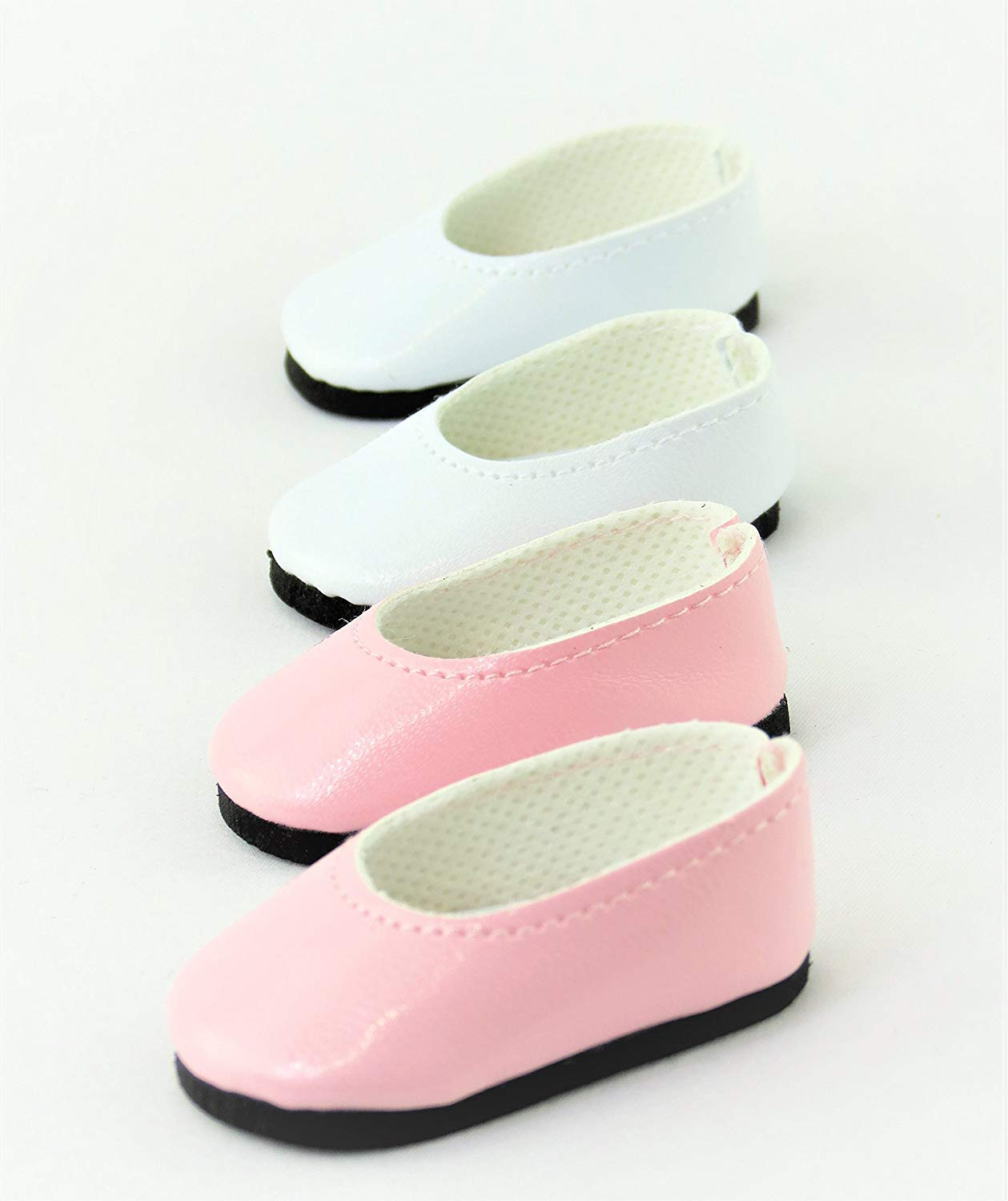 """2 pack of Slip On Shoes: White and Pink 