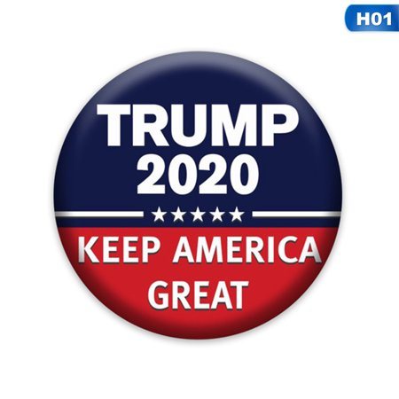 AkoaDa Trump Buttons, 2020 Presidential Election Campaign Buttons ABS Plastic