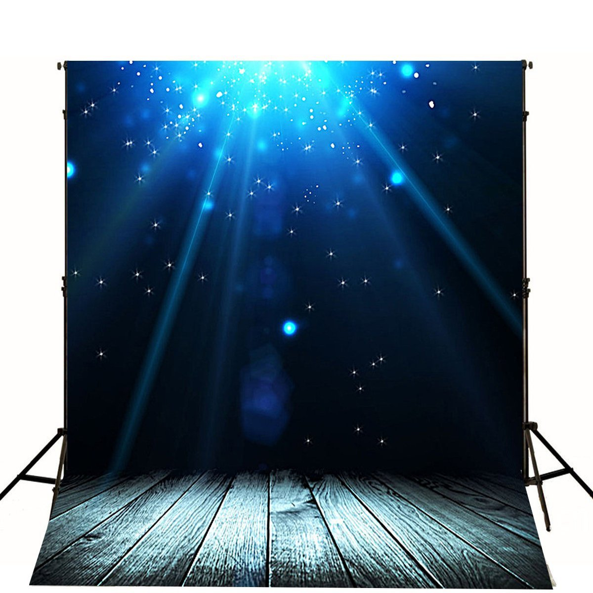CdHBH 5X7ft Polyester Simple Painting Photography Backdrop Snow in The Night Photo Props Studio Background LYLX125