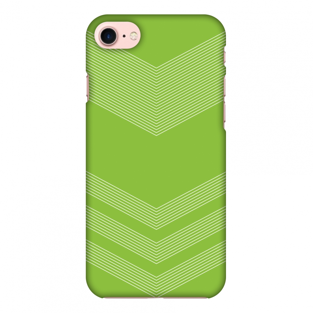 iPhone 8 Case, Premium Handcrafted Designer Hard Shell Snap On Case Printed Back Cover with Screen Cleaning Kit for iPhone 8, Slim, Protective - Carbon Fibre Redux Pear Green 2
