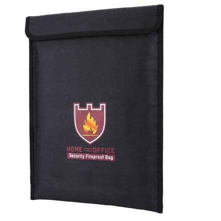Fireproof Document Pouch,EECOO 1pc Double Sided Fireproof Bag Fire Water Resistant Pouch for LiPo Battery Money Document Fireproof