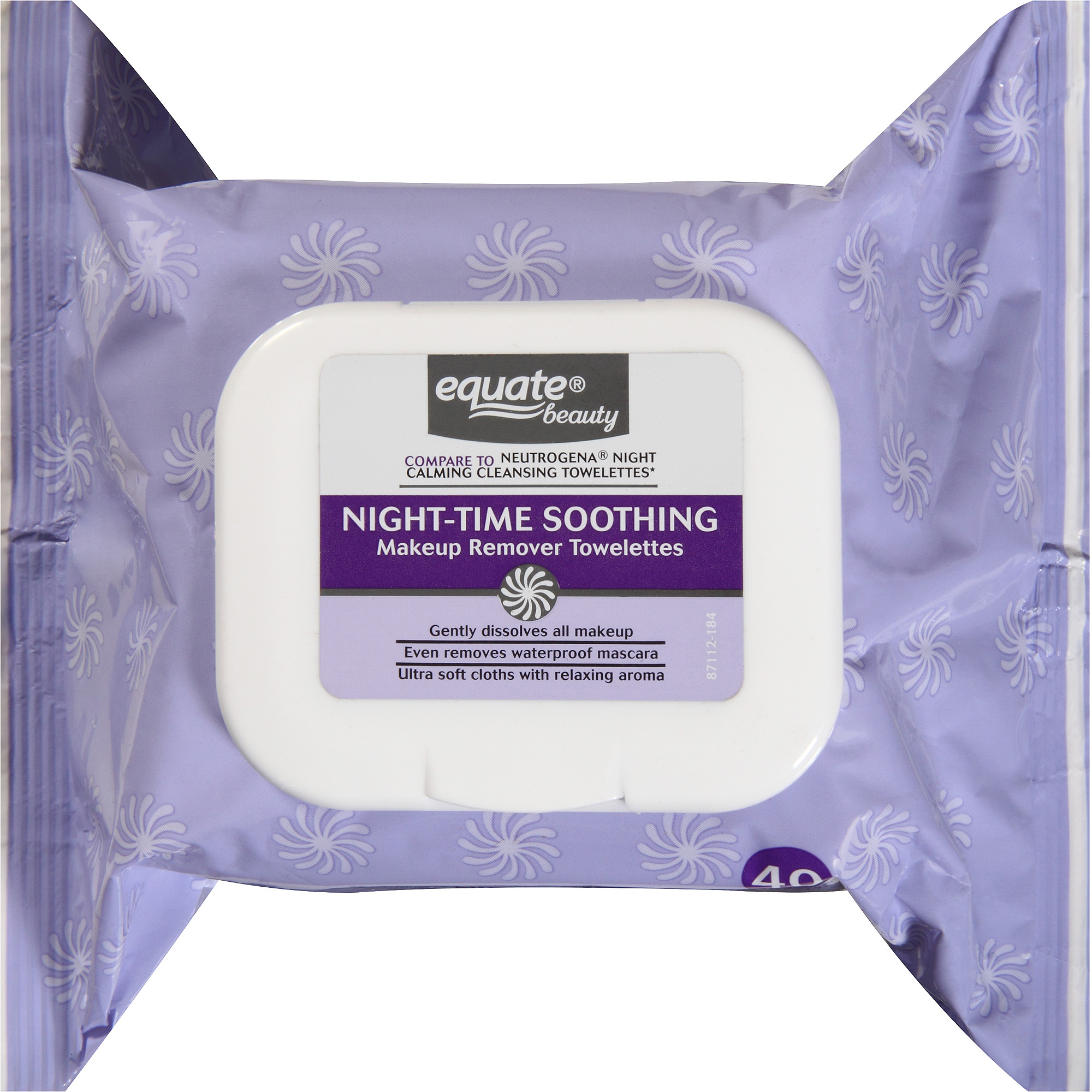 Equate Beauty Night-Time Soothing Makeup Remover Towelettes, 40 sheets