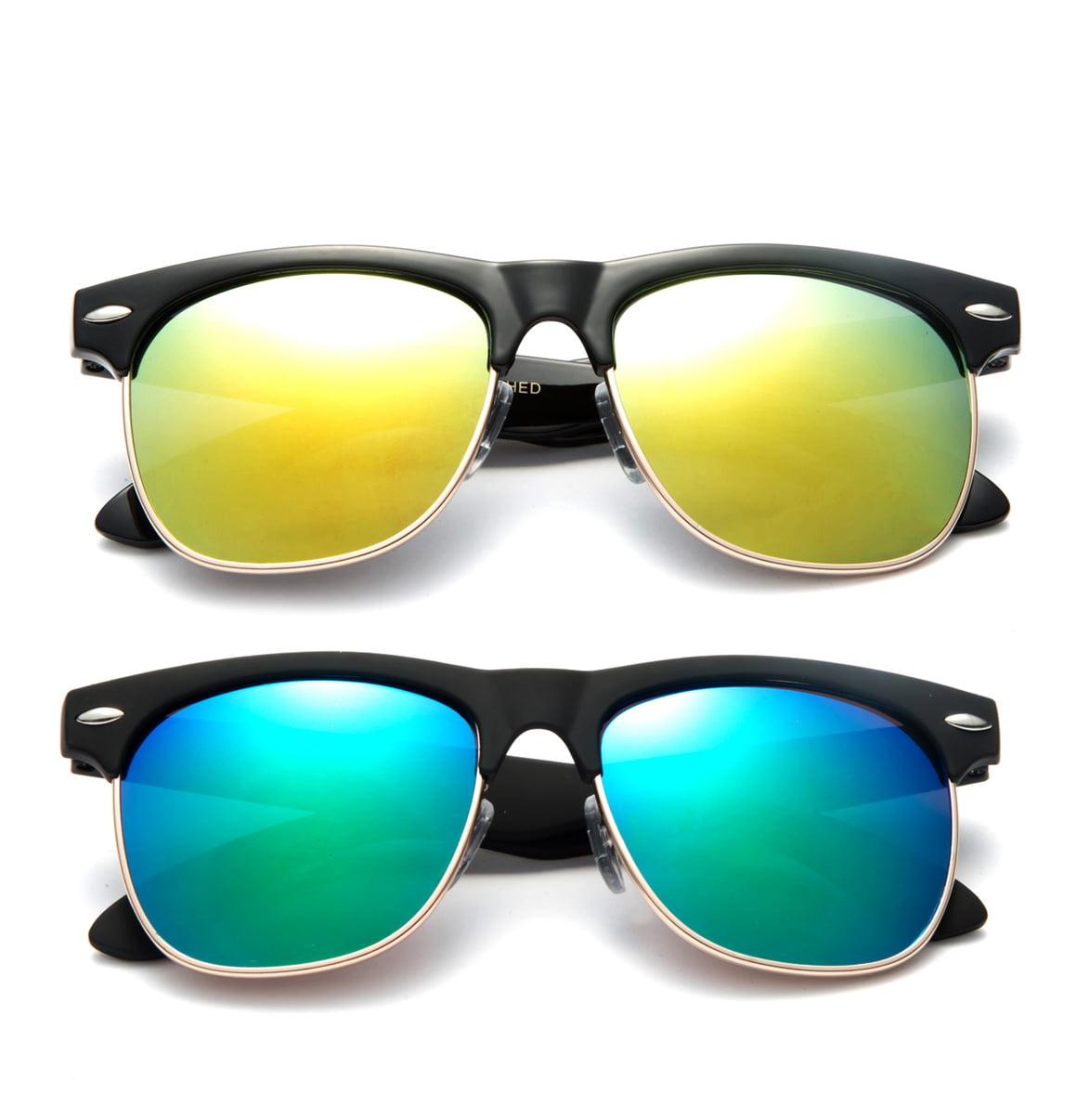 "Newbee Fashion - ""Kay"" Kids Vintage Metal Finish Flash Lens Fashion Sunglasses"