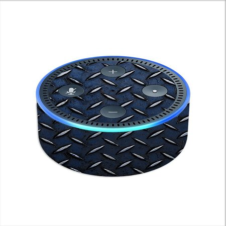Skin Decal For Amazon Echo Dot 2 (2Nd Generation) / Diamond Plate Aged Steel](Real Steel Age Rating)
