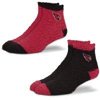 Arizona Cardinals For Bare Feet Women's 2-Pack Sleep Soft Socks