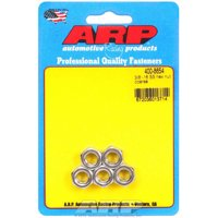 ARP Hex Nut 3/8-16 in Thread Stainless 5 pc P/N 400-8654