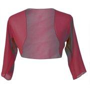 feeb99f5b973 Faship Chiffon 3/4 Sleeve Bolero Shrug Cardigan Top