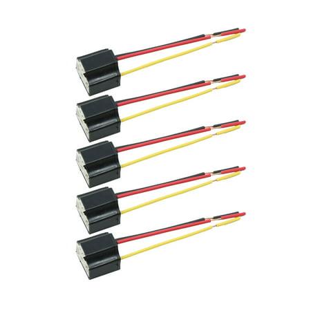 5pcs dc 12v headlight foglight h4 bulb socket plug connector wiring harness  - image 5 of