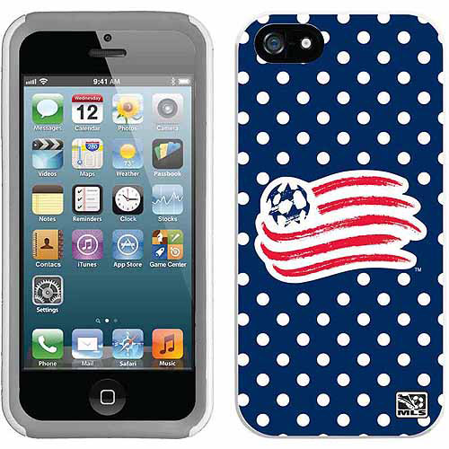 New England Revolution Polka Dots Design on Apple iPhone 5SE/5s/5 New Guardian Case by Coveroo