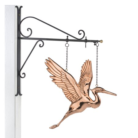 Good Directions Hanging Blue Heron Wall Décor, Pure Copper - 29