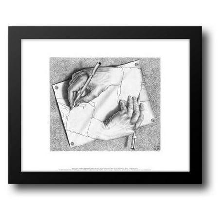 Drawing Hands 18x15 Framed Art Print by Escher, - Hand Print Art