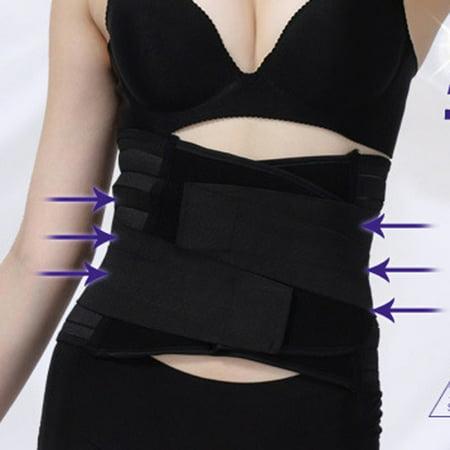 Postpartum Corset Recovery Belly Waist Tummy Belt Shaper Body Support Bands](Yellow Corset)
