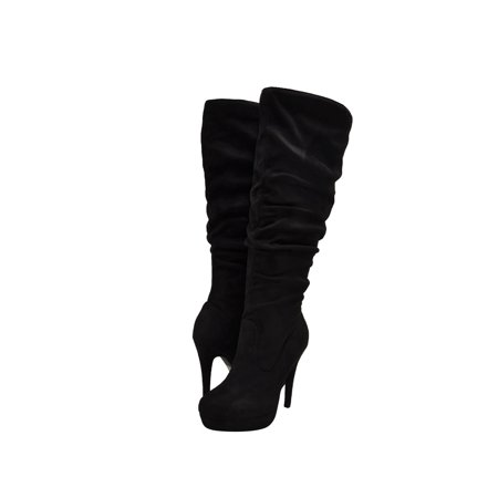 Delicious Knee Boots - Delicious Partial-S Women's Slouchy Knee High Platform Boots