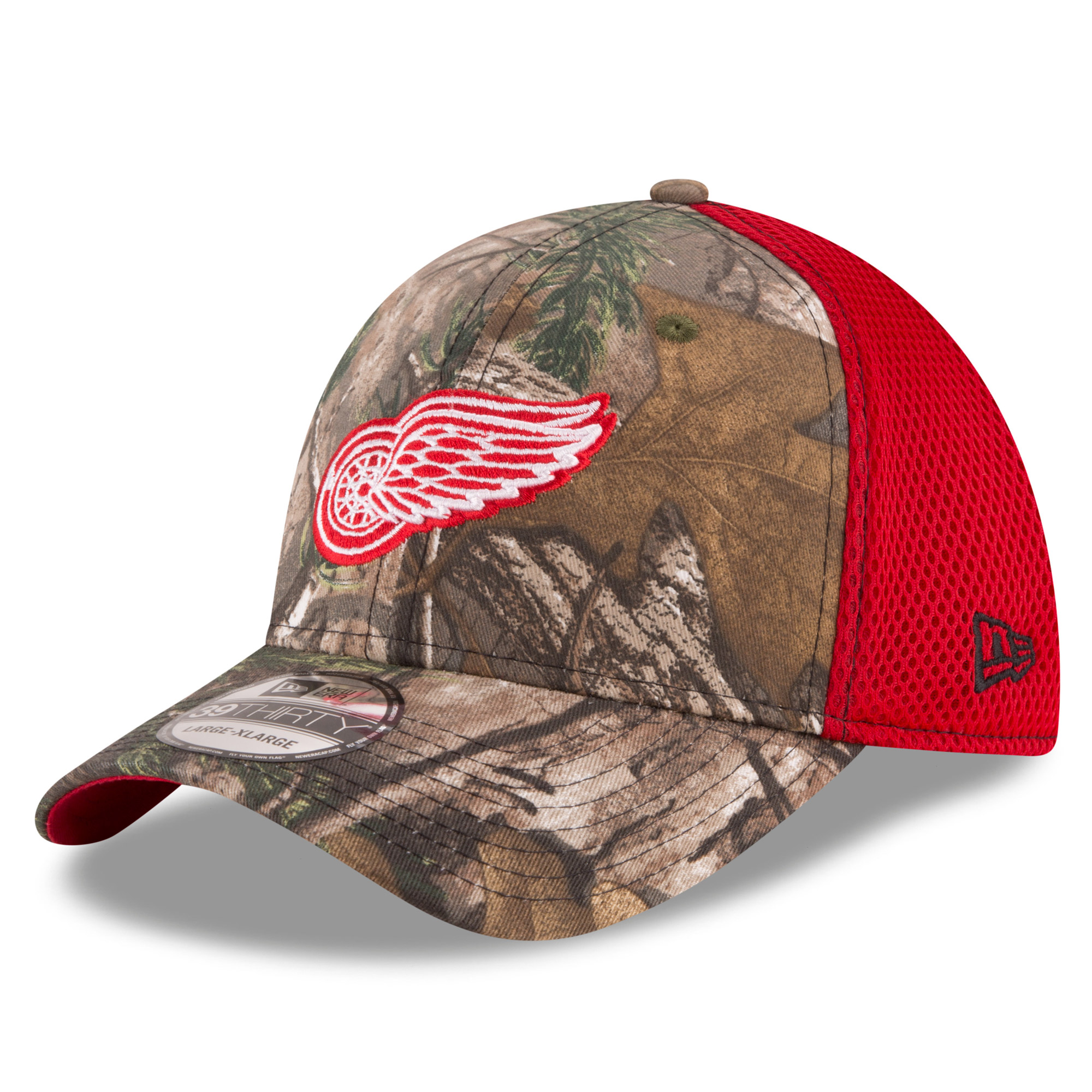 Detroit Red Wings New Era Neo 39THIRTY Flex Hat - Realtree Camo/Red