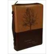 Christian Art Gifts 366721 Bi Cover Stand Firm Large Brown Two Tone Luxleather