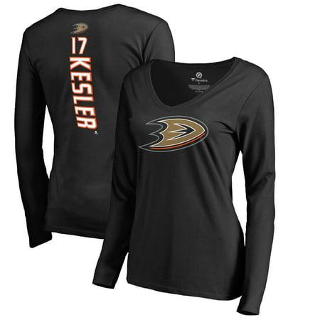 Bobby Ryan Anaheim Ducks - Ryan Kesler Anaheim Ducks Fanatics Branded Women's Backer V-Neck Long Sleeve T-Shirt - Black
