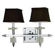 AF Lighting 6764 Two-Light Vanity Sconce with Chocolate Brown Shades
