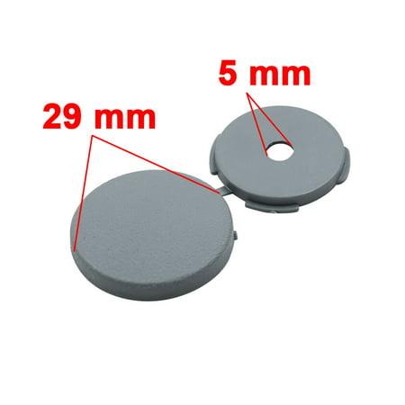 8 Pcs Gray 5mm Dia Nut Screw Bolt Cap Covers Interior Decoration for Car - image 4 of 4