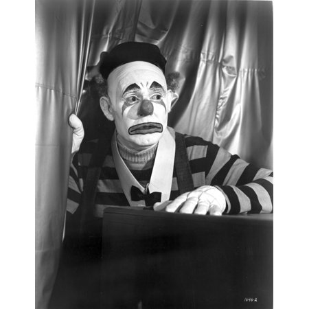 Emmett Kelly Feeling Scared in Clown Outfit Photo - Clown Outfit